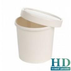 Супная емкость бумажная с крышкой, 340 мл 250 шт/уп