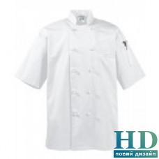 Куртка М поварская рукав1/2, коттон (цвет бел., черн., размер XS-4XL)
