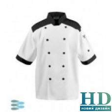 Куртка М поварская коттон ( XL,цвет белый, зеленый)