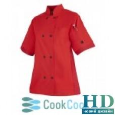 Куртка  поварская мужская, короткий рукав (S - 3XL, красный)