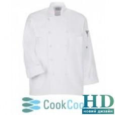Куртка повара с сеткой, коттон (цвет белый, черный, размер  XS-XL)