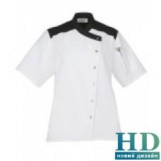 Куртка  поварская женская, рукав короткий, коттон (белый, размер S)