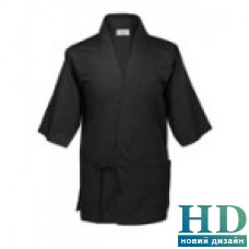 Куртка  поварская мужская, рукав короткий, коттон (M, L, цвет черный, красный)